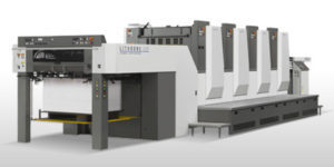 Litho Printing Services with our HUV drying press